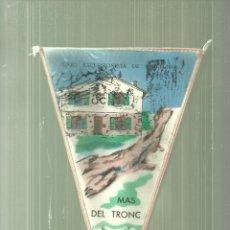 Coleccionismo deportivo: 1092.-EXCURSIONISME-MUNTANYA-BANDERIN U.E.C.-MAS DEL TRONC SERRES DE RUBIO ANY 1969. Lote 112243683