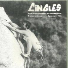 Coleccionismo deportivo: 1092.-EXCURSIONISME-MUNTANYA-CINGLES SUPLEMENT Nº 1 DESEMBRE 1986. Lote 112246215