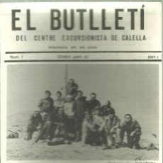 Coleccionismo deportivo: 1092.-EXCURSIONISME-MUNTANYA-EL BUTLLETI DEL CENTRE EXCURSIONISTA DE CALELLA ANY I Nº 1. Lote 112246371