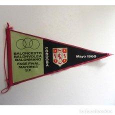 Coleccionismo deportivo: ANTIGUO BANDERÍN DEPORTIVO - CÓRDOBA 1965 ESCUDO - DEPORTE - BALONCESTO BALONMANO BALONVOLEA BÁSQUET. Lote 112681075