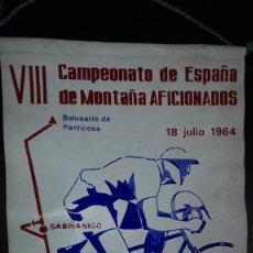 Coleccionismo deportivo: VIII CAMPEONATO DE ESPAÑA DE MONTAÑA AFICIONADOS1964.GRAN PREMIO KAS-KASKOL CLUB CICLISTA SABIÑANIGO. Lote 113015931
