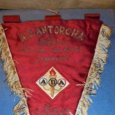 Coleccionismo deportivo: A.D. ANTORCHA , LÉRIDA PABELLÓN DEL DEPORTE INAGURACIÓN MAYO 1952 - ANTIGUO BANDERIN BORDADO SOBRE . Lote 114823847