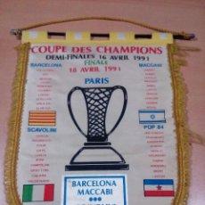 Coleccionismo deportivo: BANDERÍN CONMEMORATIVO FINAL TOUR PARIS 1991 BALONCESTOVER FOTOS. Lote 115433719