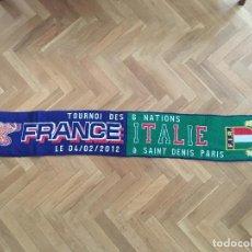 Coleccionismo deportivo: BUFANDA RUGBY 6 NACIONES 2012 FRANCIA ITALIA SAINT DENIS PARIS. Lote 117956799