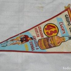Coleccionismo deportivo: VINTAGE - ANTIGUO BANDERÍN - GRUPO DEPORTIVO LICOR 43 - VUELTA CICLISTA A ESPAÑA 1959 - HAZ OFERTA. Lote 118187991