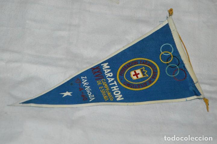 VINTAGE - ANTIGUO BANDERÍN DEPORTIVO - XXVI CAMPEONATO ESPAÑA MARATHON - 1960 - JOYA - HAZ OFERTA (Coleccionismo Deportivo - Banderas y Banderines otros Deportes)