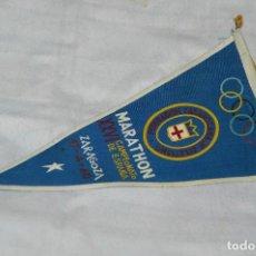 Coleccionismo deportivo: VINTAGE - ANTIGUO BANDERÍN DEPORTIVO - XXVI CAMPEONATO ESPAÑA MARATHON - 1960 - JOYA - HAZ OFERTA. Lote 118189419