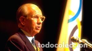(F-180456)BANDERA OFICIAL OLIMPICA - BARCELONA 92 - FIRMADA POR D.JUAN ANTONIO SAMARANCH - (Coleccionismo Deportivo - Banderas y Banderines otros Deportes)