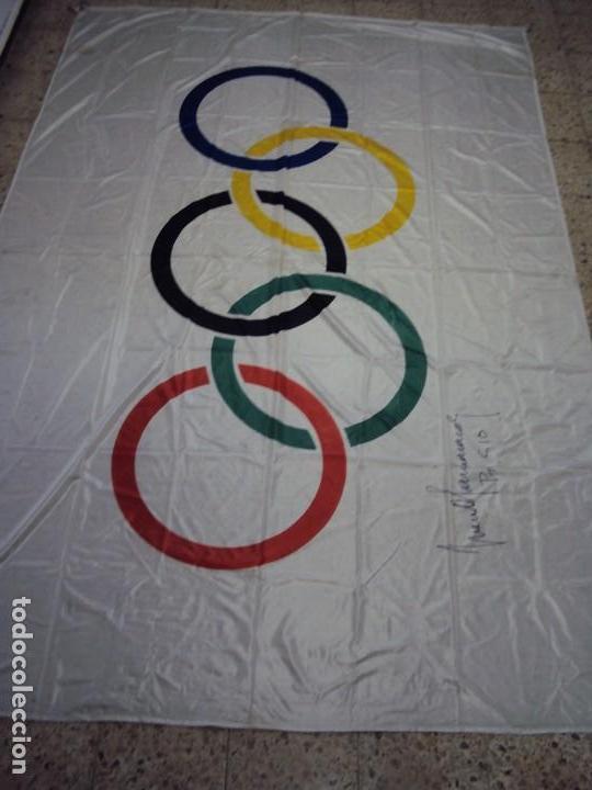 Coleccionismo deportivo: (F-180456)BANDERA OFICIAL OLIMPICA - BARCELONA 92 - FIRMADA POR D.JUAN ANTONIO SAMARANCH - - Foto 21 - 118251567