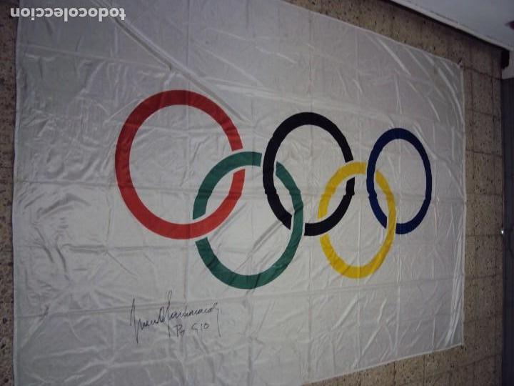 Coleccionismo deportivo: (F-180456)BANDERA OFICIAL OLIMPICA - BARCELONA 92 - FIRMADA POR D.JUAN ANTONIO SAMARANCH - - Foto 22 - 118251567