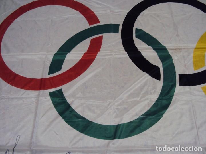 Coleccionismo deportivo: (F-180456)BANDERA OFICIAL OLIMPICA - BARCELONA 92 - FIRMADA POR D.JUAN ANTONIO SAMARANCH - - Foto 28 - 118251567