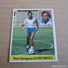 Coleccionismo deportivo: EDICIONES ESTE LIGA 81-82, ZUNZUNEGUI, REAL ZARAGOZA , ULTIMOS FICHAJES Nº 3. Lote 118289647