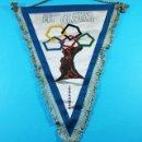 Coleccionismo deportivo: BANDERIN ESTADIO MIRALBUENO EL OLIVAR ZARAGOZA TELA 42 X 37 CM, BALONCESTO BASKET. Lote 118793775