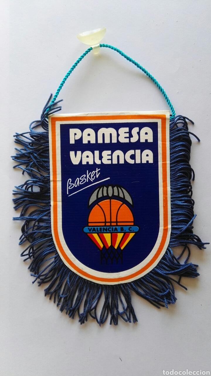 BANDERÍN PAMESA VALENCIA BASKET (Coleccionismo Deportivo - Banderas y Banderines otros Deportes)