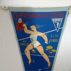 Coleccionismo deportivo: BANDERÍN CAMPEONATO DE ESPAÑA DE CAMPO A TRAVÉS SANTÁNDER 1962. Lote 122282391