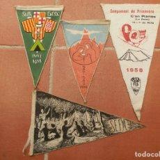 Coleccionismo deportivo: 4 BANDERINES DIFERENTES CENTROS EXCURSIONISTAS DEL AÑO 1958.. Lote 124409083