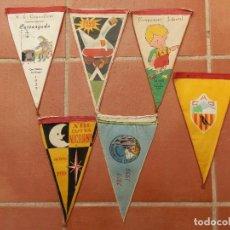 Coleccionismo deportivo: 6 BANDERINES DIFERENTES CENTROS EXCURSIONISTAS DEL AÑO 1959.. Lote 124409223