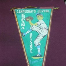 Coleccionismo deportivo: BANDERIN CAMPEONATO JUVENIL ESPAÑA BESISBOL. ZARAGOZA 1958.. Lote 125880247