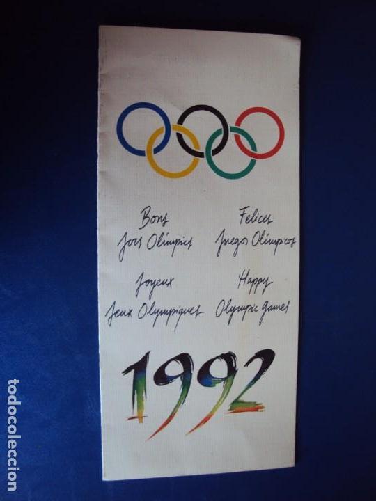 Coleccionismo deportivo: (F-180924)OLIMPIC KIT.CEREMONIA INAGURACION JJOO BARCELONA 92 Olimpic Kit para el público-participa - Foto 10 - 132651990