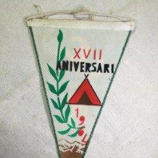 Coleccionismo deportivo: BANDERIN -UEC UNIO EXCURSIONISTA CATALUNYA CORNELLA XVII ANIVERSARI 1964-DOBLE CARA. Lote 133568182