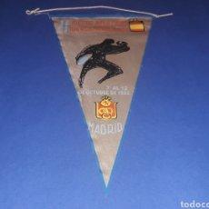 Coleccionismo deportivo: BANDERÍN TELA, II JUEGOS ATLÉTICOS IBEROAMERICANOS, ESPAÑA-MADRID, 7 AL 12 OCTUBRE 1962.. Lote 134131058