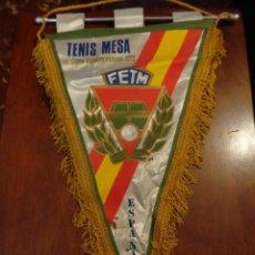 Coleccionismo deportivo: TENIS MESA 15º COPA EUROPEA FERIAS 1979 ESPAÑA - RARO CON FLEQUILLO A DOS COSTADOS. Lote 135152010