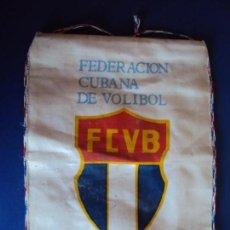 Coleccionismo deportivo: (F-181001)BANDERIN FEDERACION CUBANA DE VOLIBOL. Lote 135239010