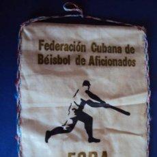 Coleccionismo deportivo: (F-181002)BANDERIN FEDERACION CUBANA DE BEISBOL DE AFICIONADOS. Lote 135239158