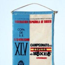 Coleccionismo deportivo: BANDERÍN XLV CAMPEONATO DE ESPAÑA DE BOXEO AFICIONADO 1973 TENERIFE, COPA S.E. EL GENERALÍSIMO. Lote 135561286