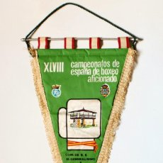 Coleccionismo deportivo: BANDERÍN XLVIII CAMPEONATOS DE ESPAÑA DE BOXEO AFICIONADO 1976 ASTURIAS, COPA S.E. EL GENERALÍSIMO. Lote 135561718