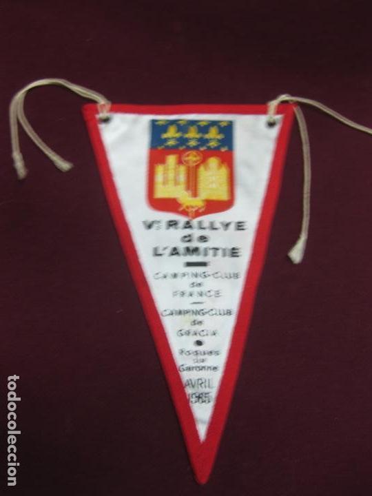 VI RALLYE DE L'AMITIE. CAMPING CLUB DE GRACIA. ROQUES SUR GARONNE. AVRIL 1965 (Coleccionismo Deportivo - Banderas y Banderines otros Deportes)