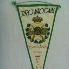 Coleccionismo deportivo: BANDERIN : TIRO NACIONAL . REPRESENTACION DE SEVILLA .. Lote 136220306