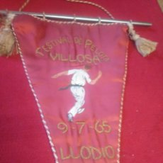 Coleccionismo deportivo: BANDERÍN FESTIVAL DE PELOTA VILLOSA 1965. Lote 136670714