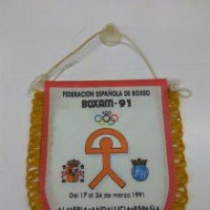 Coleccionismo deportivo: ALMERÍA BOXEO BOXAM 91 AÑO 1991 BANDERIN 14X12 CMS APROX. Lote 138049253