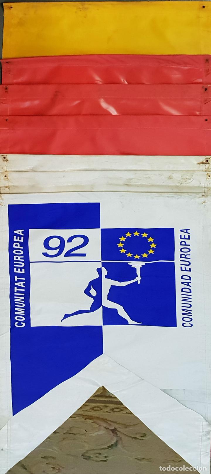 COLECCIÓN DE 7 BANDEROLAS. OLIMPIADAS DE BARCELONA 1992. COOB 92. 1990. (Coleccionismo Deportivo - Banderas y Banderines otros Deportes)