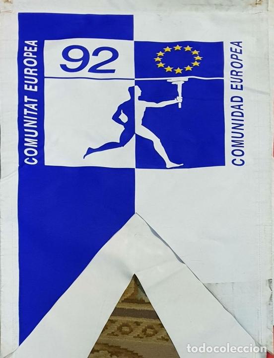 Coleccionismo deportivo: COLECCIÓN DE 7 BANDEROLAS. OLIMPIADAS DE BARCELONA 1992. COOB 92. 1990. - Foto 2 - 138119694