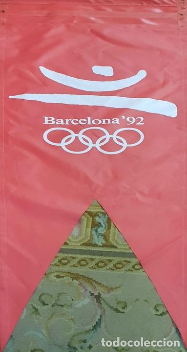 Coleccionismo deportivo: COLECCIÓN DE 7 BANDEROLAS. OLIMPIADAS DE BARCELONA 1992. COOB 92. 1990. - Foto 3 - 138119694