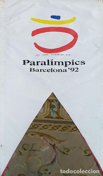 Coleccionismo deportivo: COLECCIÓN DE 7 BANDEROLAS. OLIMPIADAS DE BARCELONA 1992. COOB 92. 1990. - Foto 4 - 138119694
