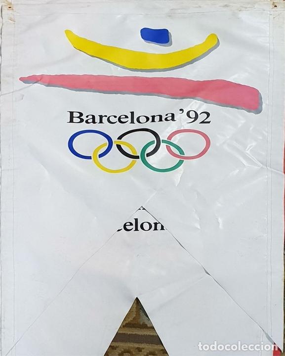 Coleccionismo deportivo: COLECCIÓN DE 7 BANDEROLAS. OLIMPIADAS DE BARCELONA 1992. COOB 92. 1990. - Foto 6 - 138119694