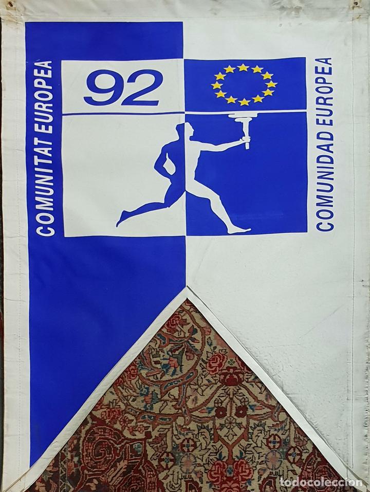 COLECCIÓN DE 9 BANDERAS DE LAS OLIMPIADAS BARCELONA 1992. COOB. 1990. (Coleccionismo Deportivo - Banderas y Banderines otros Deportes)