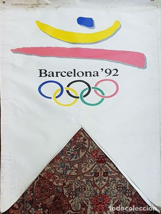 Coleccionismo deportivo: COLECCIÓN DE 9 BANDERAS DE LAS OLIMPIADAS BARCELONA 1992. COOB. 1990. - Foto 3 - 138165138