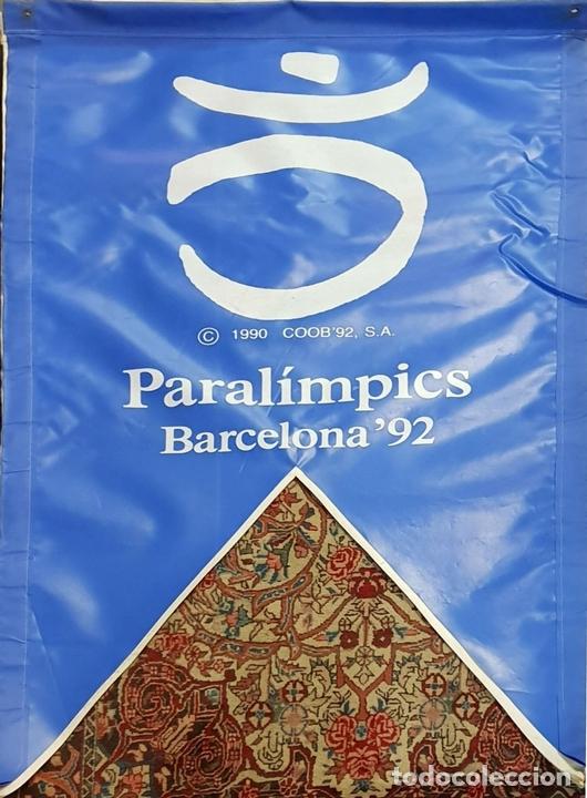 Coleccionismo deportivo: COLECCIÓN DE 9 BANDERAS DE LAS OLIMPIADAS BARCELONA 1992. COOB. 1990. - Foto 4 - 138165138