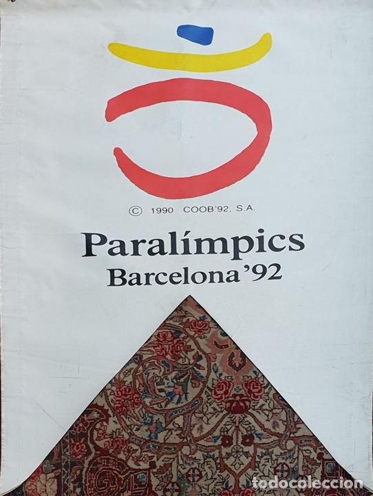 Coleccionismo deportivo: COLECCIÓN DE 9 BANDERAS DE LAS OLIMPIADAS BARCELONA 1992. COOB. 1990. - Foto 5 - 138165138