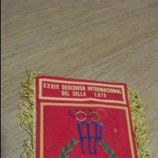 Collezionismo sportivo: ANTIGUO BANDERIN XXXIX DESCENSO INTERNACIONAL DEL SELLA 1975. Lote 139673434