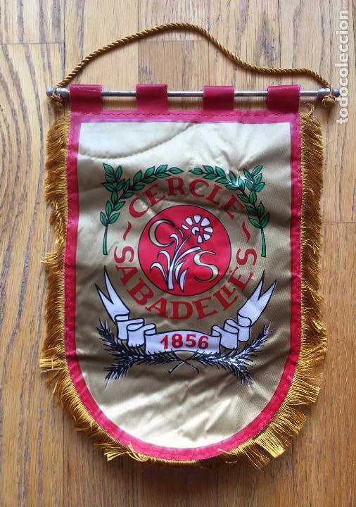 BANDERIN CERCLE SABADELLES 1856 (Coleccionismo Deportivo - Banderas y Banderines otros Deportes)