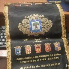 Coleccionismo deportivo: GRAN ESTANDARTE, CAMPEONATO DE ESPAÑA DE BILLAR A TRES BANDAS, CIRCULO BELLAS ARTES MADRID 1971. Lote 142562022