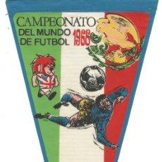 Coleccionismo deportivo: CAMPEONATO DEL MUNDO DE FUTBOL 1966 SELECCION MEXICO BANDERIN PUBLICIDAD PRODUCTOS GIOR. Lote 144392694