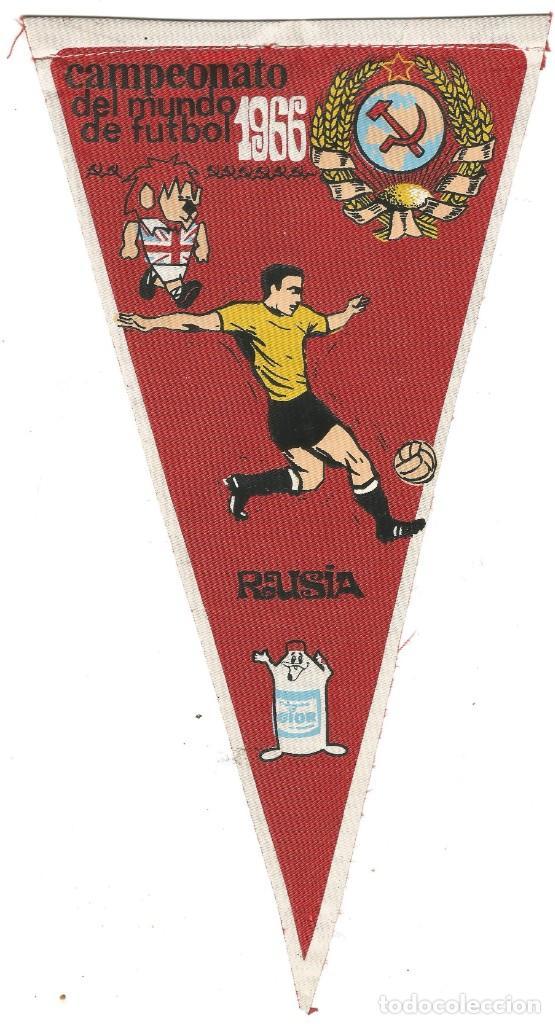 CAMPEONATO DEL MUNDO DE FUTBOL 1966 SELECCION DE RUSIA BANDERIN PUBLICIDAD GIOR (Coleccionismo Deportivo - Banderas y Banderines otros Deportes)