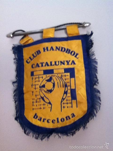 CLUB HANDBALL CATALUNYA. BANDERÍN ANTIGUO (Coleccionismo Deportivo - Banderas y Banderines otros Deportes)