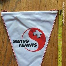 Coleccionismo deportivo: ANTIGUO BANDERIN FEDERACION SUIZA TENIS. Lote 146651638